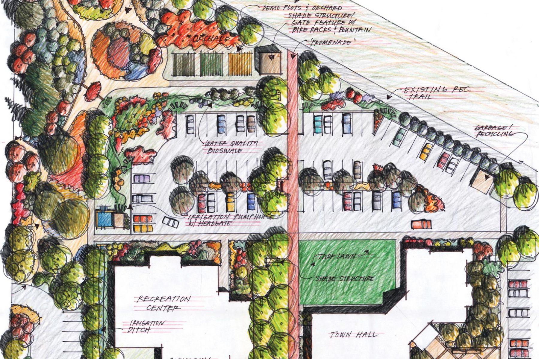 Carbondale Recreation Center Landscape Architecture